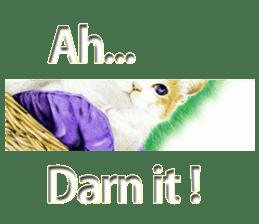 Colored pencil Cat sticker sticker #3343477