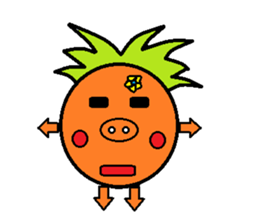 Pineapple Boy sticker #3348269