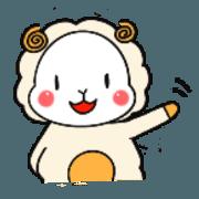 สติ๊กเกอร์ไลน์ a plump sheep the Japanese language
