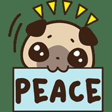 Cute pug puppy sticker #3366609