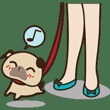 Cute pug puppy sticker #3366610