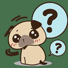 Cute pug puppy sticker #3366611