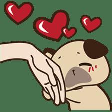Cute pug puppy sticker #3366612
