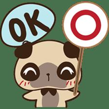 Cute pug puppy sticker #3366613