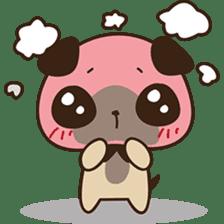 Cute pug puppy sticker #3366614
