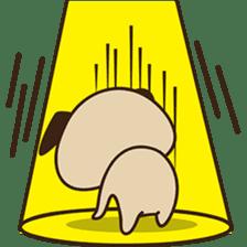 Cute pug puppy sticker #3366618