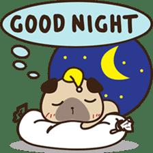 Cute pug puppy sticker #3366620