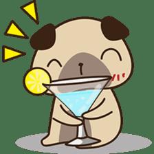 Cute pug puppy sticker #3366622