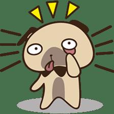 Cute pug puppy sticker #3366624