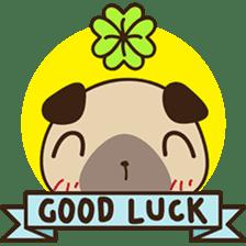 Cute pug puppy sticker #3366625