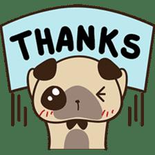 Cute pug puppy sticker #3366626