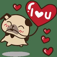 Cute pug puppy sticker #3366629