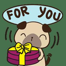 Cute pug puppy sticker #3366632