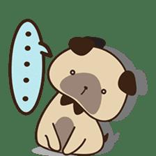 Cute pug puppy sticker #3366633