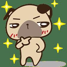 Cute pug puppy sticker #3366634