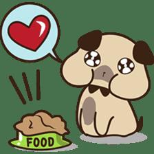 Cute pug puppy sticker #3366636