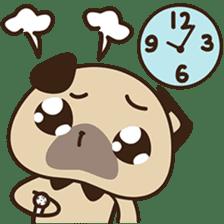 Cute pug puppy sticker #3366638