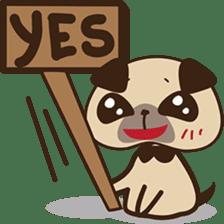 Cute pug puppy sticker #3366640
