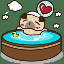 Cute pug puppy sticker #3366641