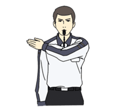 VOLLEYBALL REFEREES' HAND SIGNALS sticker #3375693