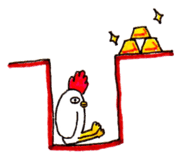 Rooster And Penguin sticker #3378889