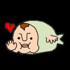 two fish like a human