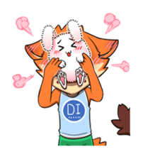 Anun, The Silly Fox sticker #3397538