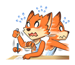 Anun, The Silly Fox sticker #3397554