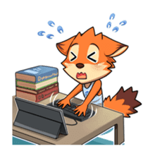 Anun, The Silly Fox sticker #3397564
