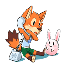 Anun, The Silly Fox sticker #3397565