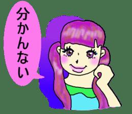80'comics Girl sticker #3403858