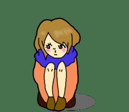 80'comics Girl sticker #3403862