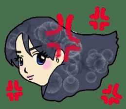 80'comics Girl sticker #3403880