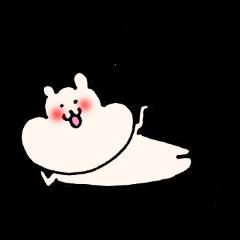 lovely rice cake hamster sticker