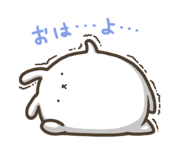 Slacker bunny sticker #3421670