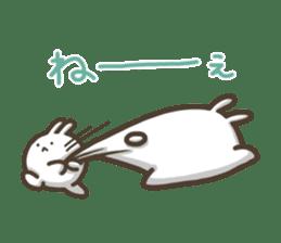 Slacker bunny sticker #3421675