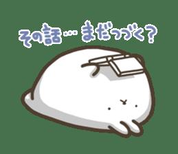 Slacker bunny sticker #3421679