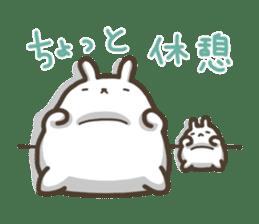 Slacker bunny sticker #3421689