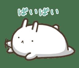 Slacker bunny sticker #3421698