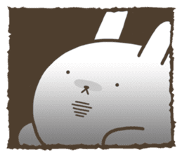Slacker bunny sticker #3421701