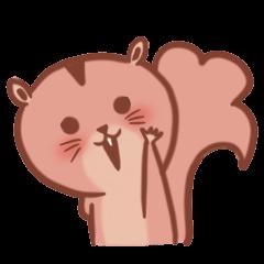 Sticker of a very cute squirrel