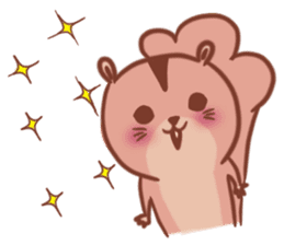 Sticker of a very cute squirrel sticker #3425907