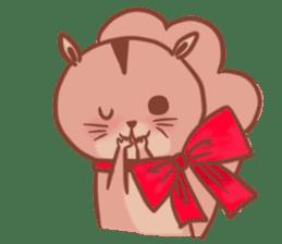 Sticker of a very cute squirrel sticker #3425925