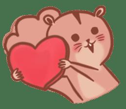 Sticker of a very cute squirrel sticker #3425927