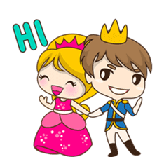 Sweet Royal couple sticker #3455194