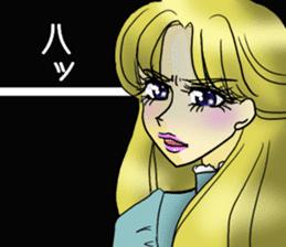 Japanese traditional girls' comic sticker #3481274