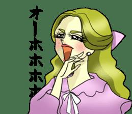 Japanese traditional girls' comic sticker #3481285