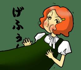 Japanese traditional girls' comic sticker #3481288