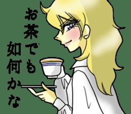 Japanese traditional girls' comic sticker #3481295
