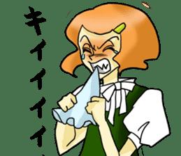Japanese traditional girls' comic sticker #3481297